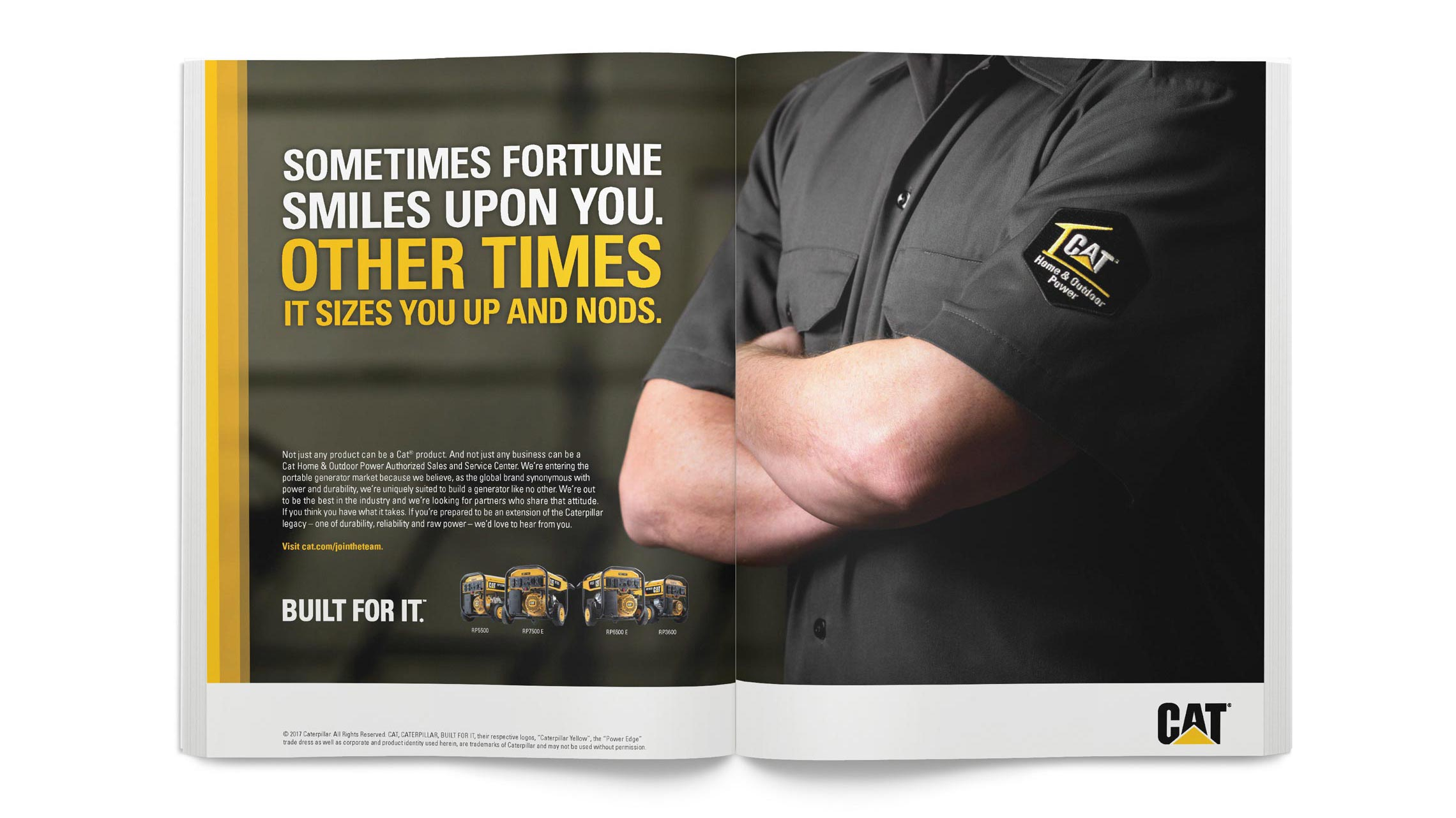 caterpillar trade launch magazine print ad