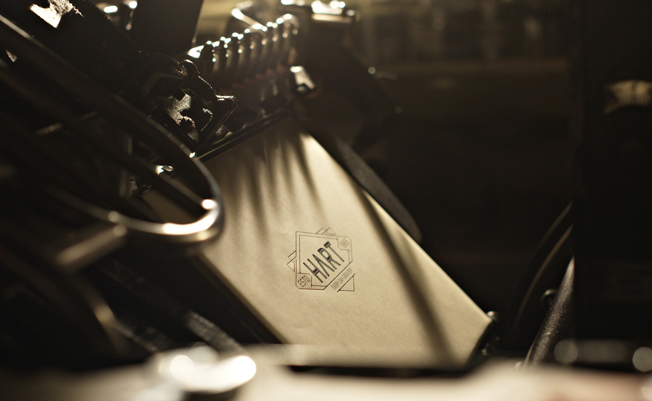 hart logo on printing press