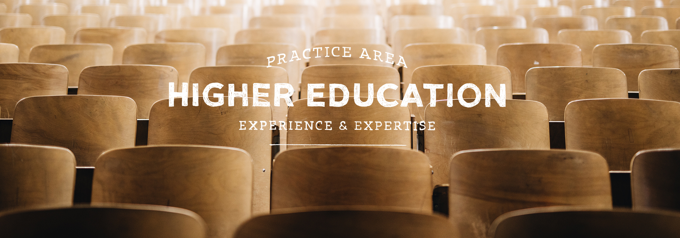 practice area higher education experience and expertise