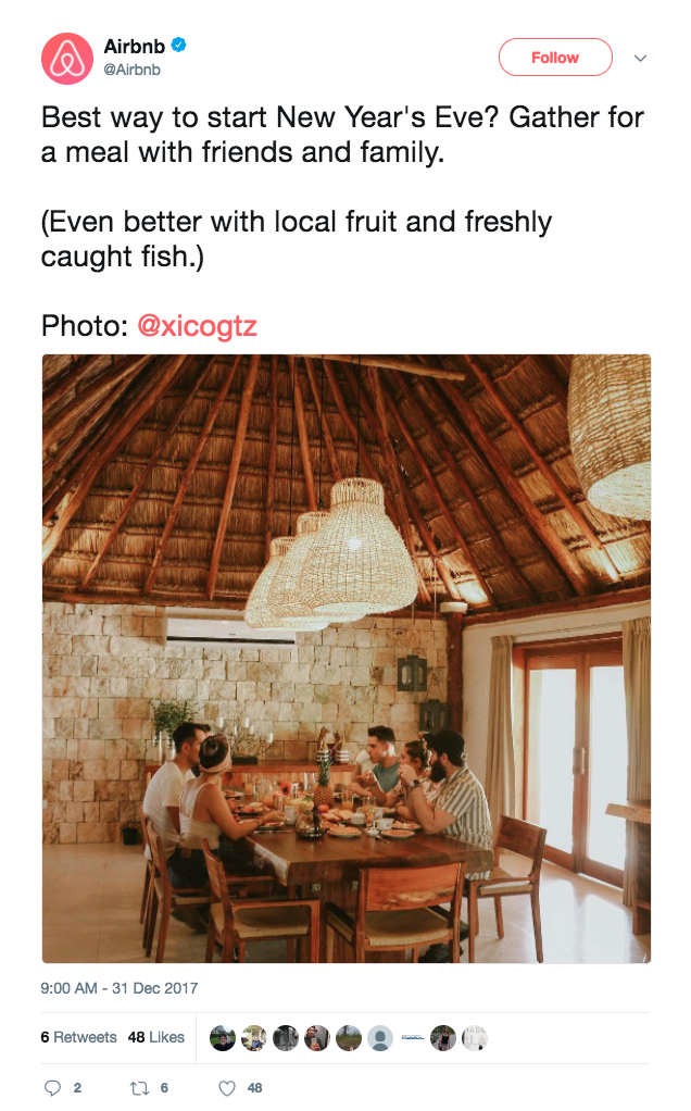 Airbnb on Twitter Screen Shot