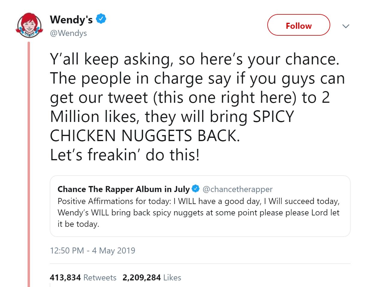 Wendy's Twitter Screen Shot