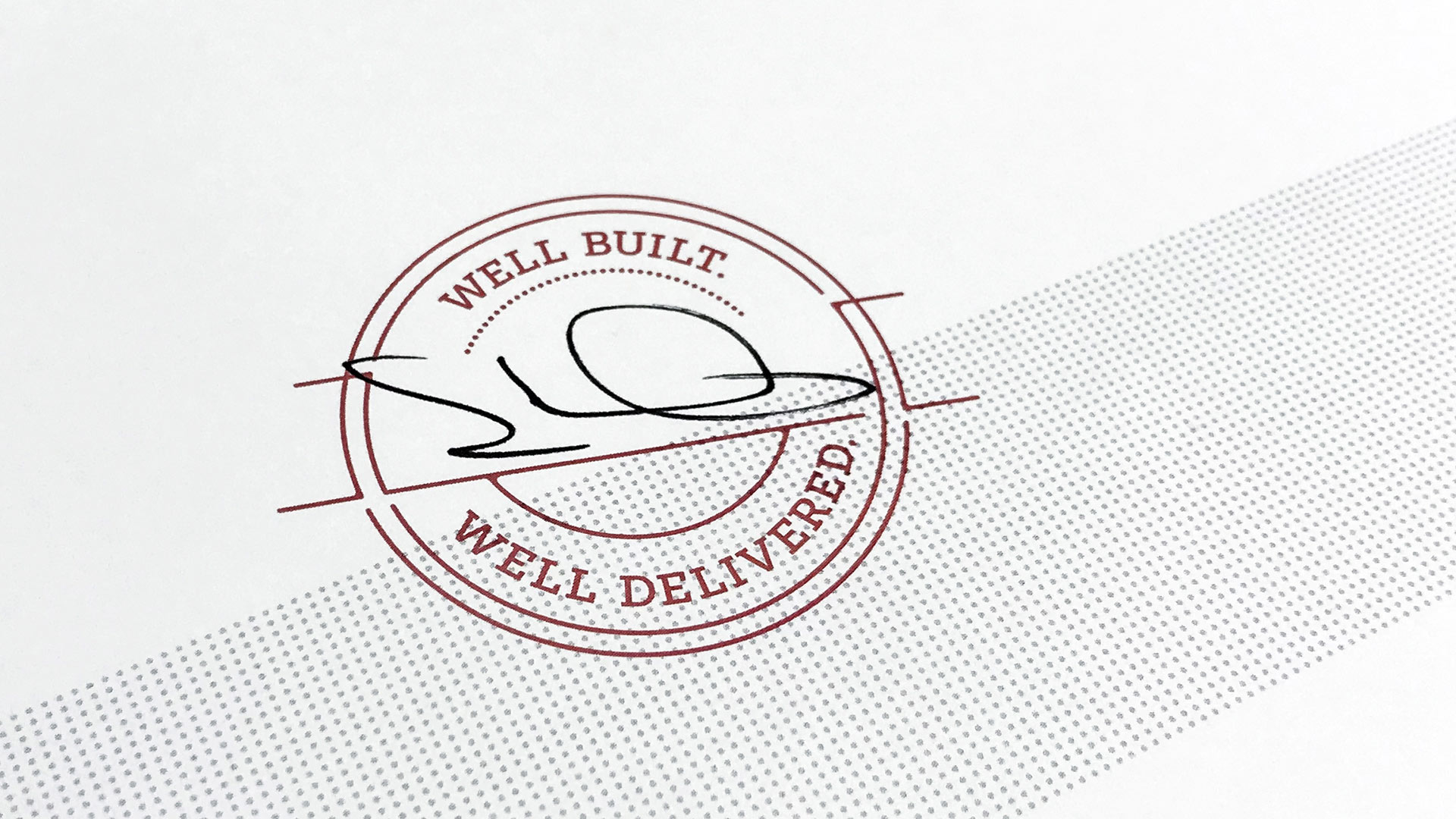 Hart Well Built Well Delivered Stamp
